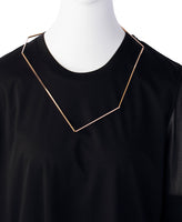 HEXAGON NECKLACE / PINK GOLD