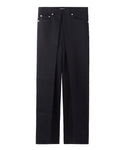 RIGID DENIM WIDE PANTS / BLACK*BLACK