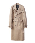 WOMENS COTTON TWILL TRENCH COAT / BEIGE
