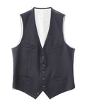 WOOL SINGLE VEST / BLACK