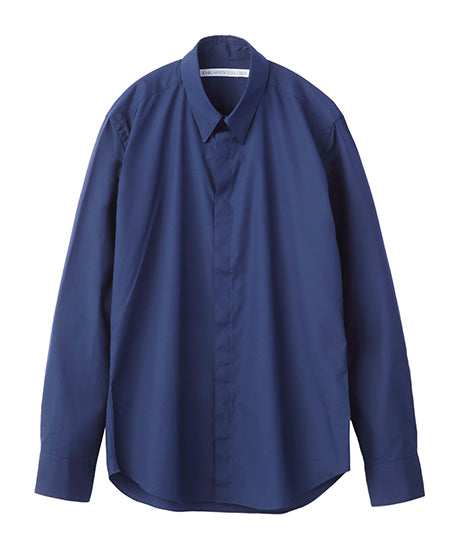 BROADCLOTH BUTTON DOWN SHIRT / NAVY