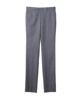 WOOL STRAIGHT TROUSERS / GREY