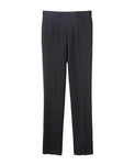 WOOL STRAIGHT TROUSERS / BLACK