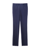 WOOL STRAIGHT TROUSERS / NAVY