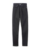 WOMENS RIGID DENIM HIGH-WAIST PANTS / BLACK