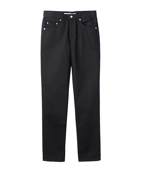TAPERED DENIM PANTS / BLACK