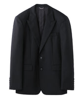 2B PEAKED LAPEL JACKET / BLACK