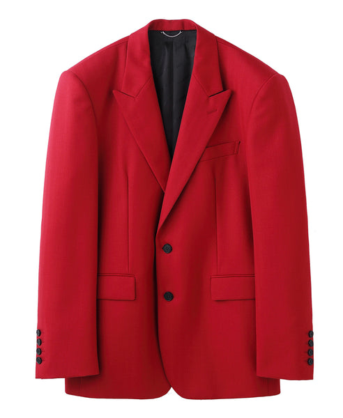 2B PEAKED LAPEL JACKET / RED