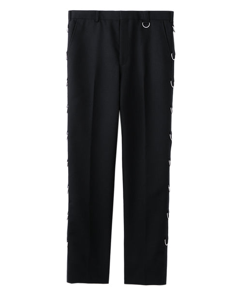 D-RING TROUSERS / BLACK