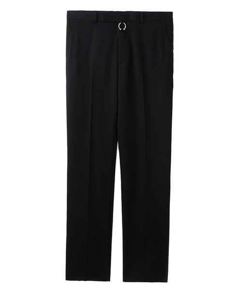 STRAIGHT TROUSERS  WITH BODY PIERCING JEWELRY / BLACK