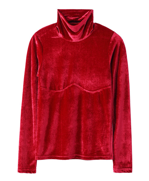 WOMENS HI-NECK TOP / RED