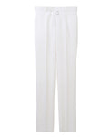 STRAIGHT TROUSERS  WITH BODY PIERCING JEWELRY / WHITE