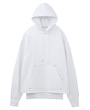 LEATHER POCKET HOODIE / WHITE