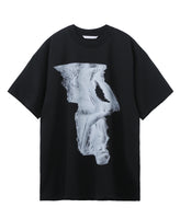 OVERSIZED PRINT T-SHIRT / BLACK