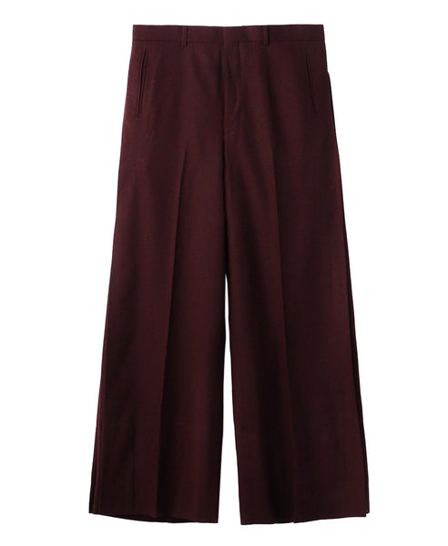 SIDE PLEATED WIDE TROUSERS / ORANGE