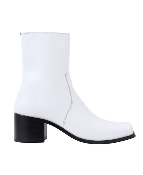 SQUARE TOE BOOTS / WHITE