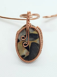 Bauxite Jasper Copper Collar Cuff