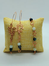 Load image into Gallery viewer, Amazonite and Chrysocolla Copper Earring and Bracelet Set