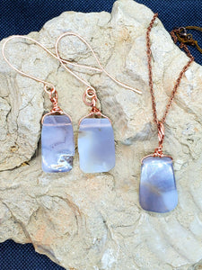 Botswana Agate Copper Earrings and Necklace