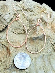 Oval Copper Danglies