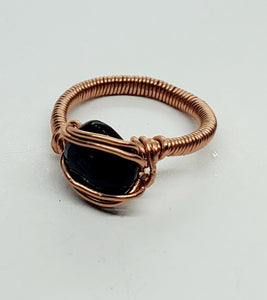 Black Spinel Copper Ring