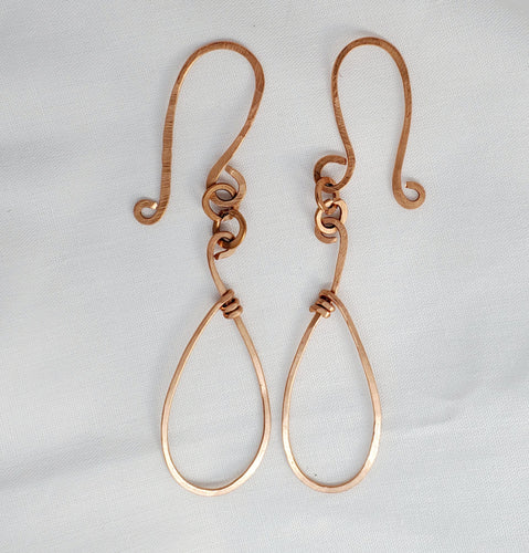 Copper Droplet Copper Earring