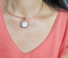 Load image into Gallery viewer, Pink Moonstone Choker Necklace