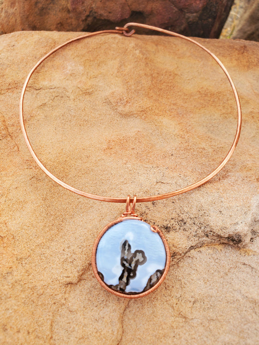 Blue Opal Copper Choker