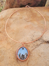 Load image into Gallery viewer, Blue Opal Copper Choker