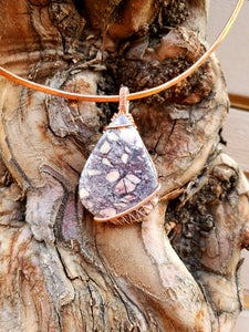 Porcelain Jasper Copper Choker