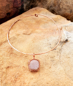 Pink Moonstone Choker Necklace
