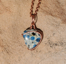 Load image into Gallery viewer, Raindrop Azurite Necklace