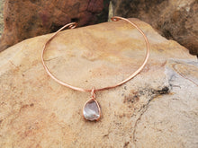 Load image into Gallery viewer, Garden Quartz Copper Collar Cuff Necklace