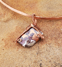 Load image into Gallery viewer, Copper Dolomite Collar Cuff
