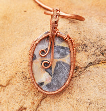Load image into Gallery viewer, Bauxite Jasper Copper Collar Cuff