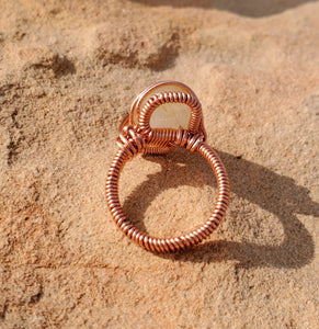 Venus Hair (Golden Rutile Quartz) Ring