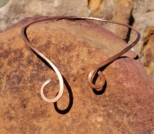 Hand Hammered Copper Collar Cuff