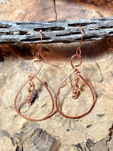 Healing Copper Earrings (Droplet with Copper Bead)