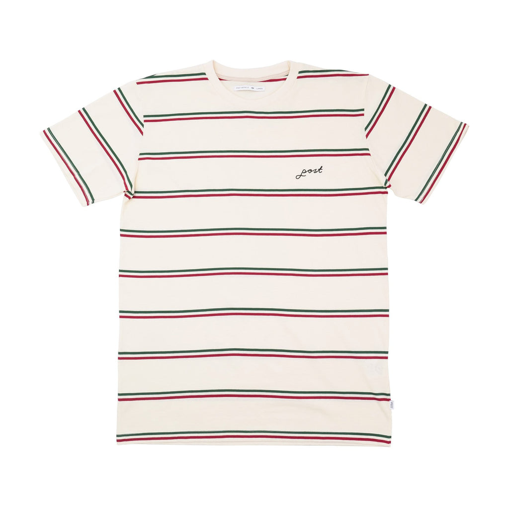 Post Striped Tee - Off White