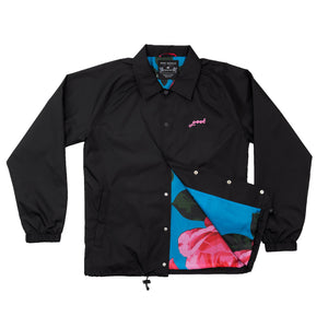 Nylon Roses Coach Jacket Black