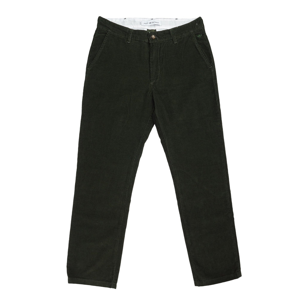 Post Corduroy Labor Pant  Forrest green