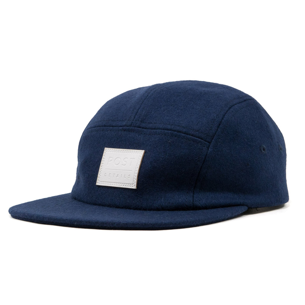 Five panel wool cap Navy