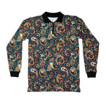 Paisley Long sleeve Polo shirt Navy