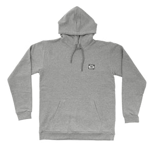 Post No Bills Hooded Sweatshirt Grey