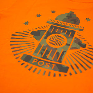 Post Camo Hydrant Long sleeve T-shirt Orange