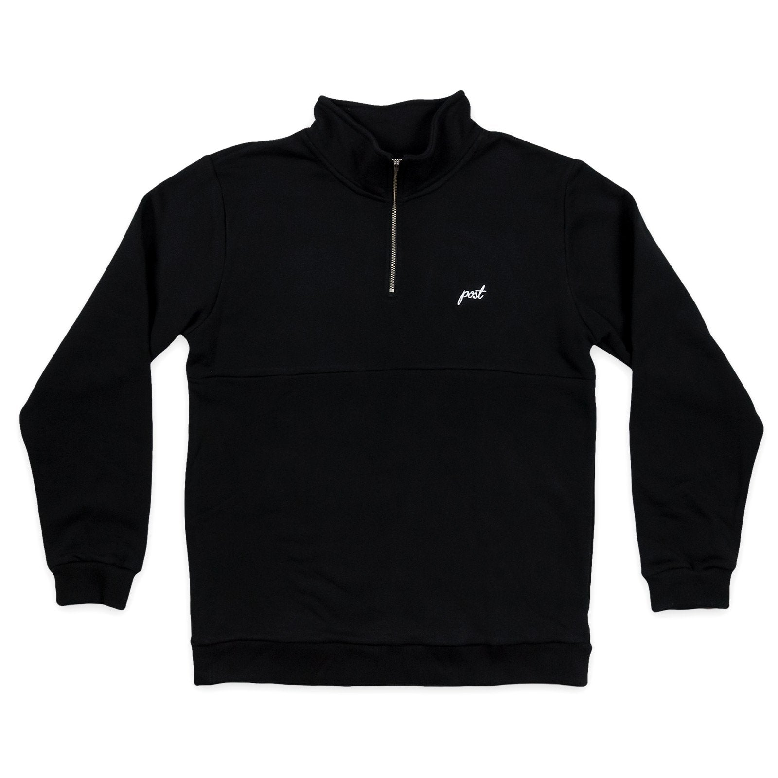 Post Shuffleboard Half zip Black