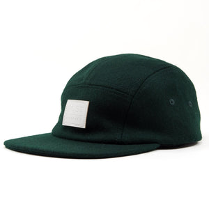Five panel wool cap Green