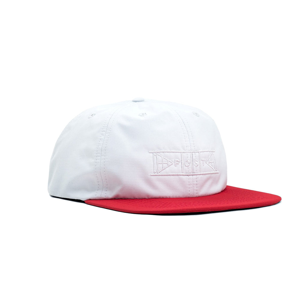 POST SHUFFLEBOARD CAP WHITE/RED