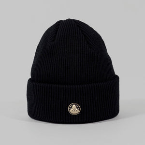 Post pin beanie - Black
