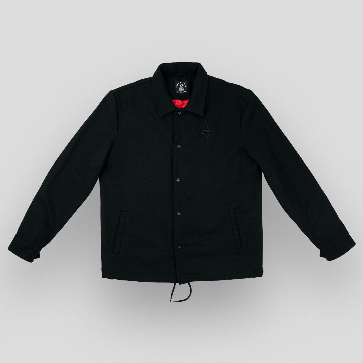 Almost Dead wool coach jacket - Black